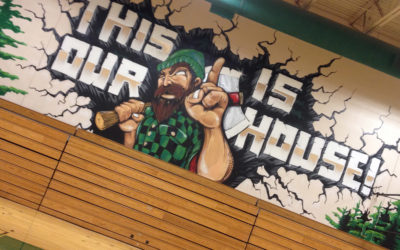 St. Maries High School Gym Mural