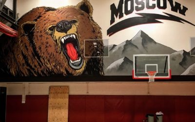 Moscow Schools Gym Mural